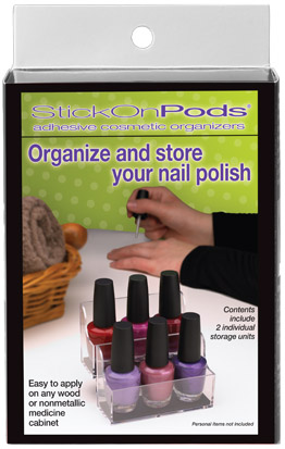 Delightful StickOnPods Nail Polish Organizer Set Good Looking